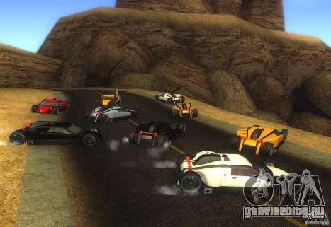 Стражник для GTA San Andreas вид сзади слева