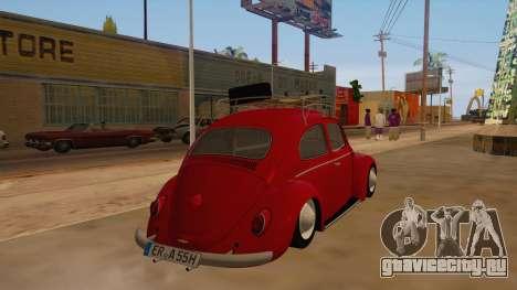 VW Beetle 1966 для GTA San Andreas вид справа
