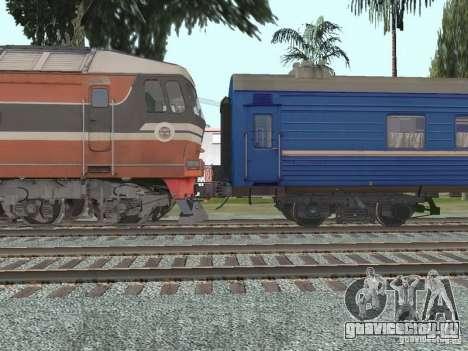 Плацкартный вагон УЖД для GTA San Andreas вид сзади слева