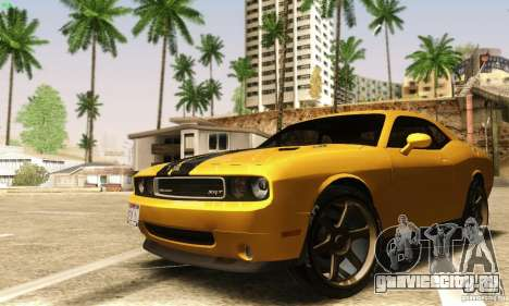 Dodge Challenger SRT-8 для GTA San Andreas вид изнутри