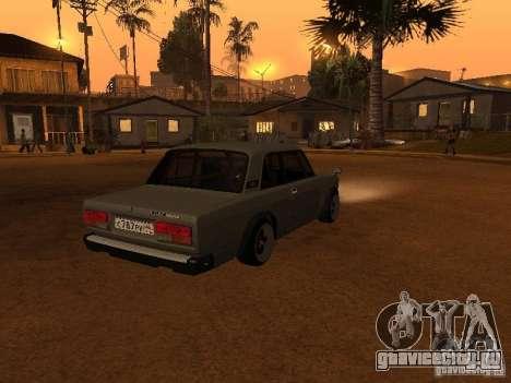 Ваз 2107 Coupe для GTA San Andreas вид сзади слева