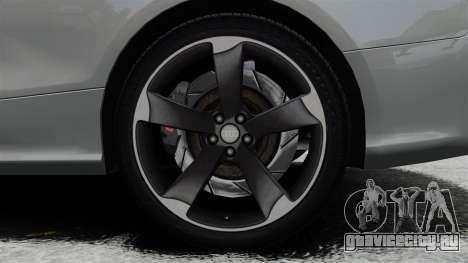 Audi RS5 2012 для GTA 4 вид изнутри