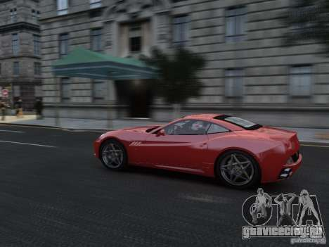 Ferrari California 2009 для GTA 4 вид изнутри