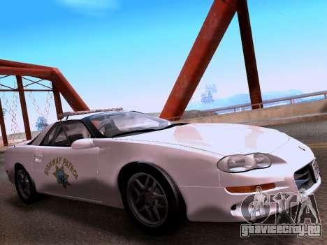 Chevrolet Camaro 2002 California Highway Patrol для GTA San Andreas вид справа