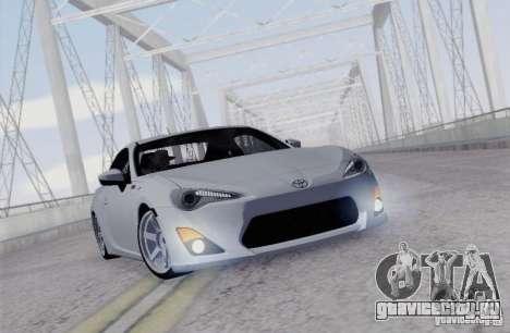 Toyota GT86 для GTA San Andreas вид сзади