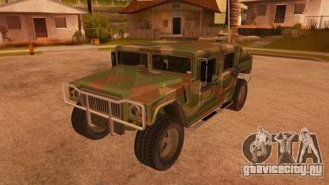 HD Patriot для GTA San Andreas вид сбоку