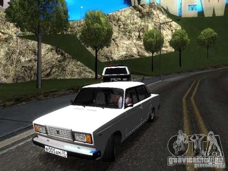 ВАЗ 2107 DAG для GTA San Andreas вид сзади слева