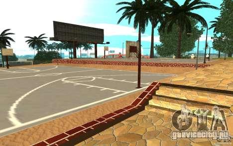 Новые текстуры баскетбольной площадки для GTA San Andreas второй скриншот