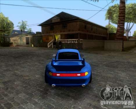 Porsche 911 GT2 RWB Dubai SIG EDTN 1995 для GTA San Andreas вид сзади