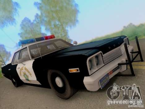 Dodge Monaco 1974 California Highway Patrol для GTA San Andreas вид сзади