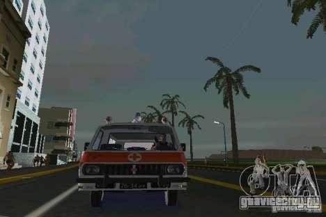 РАФ-22031 Скорая для GTA Vice City вид сзади слева