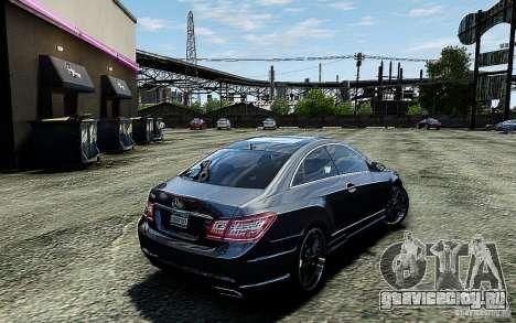 Mercedes Benz E500 Coupe для GTA 4 вид сзади слева