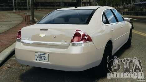 Chevrolet Impala Unmarked Detective [ELS] для GTA 4 вид сзади слева