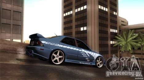 Lexus IS 300 Veilside для GTA San Andreas вид сзади
