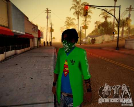 Skins pack gang Grove для GTA San Andreas
