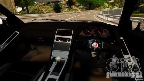 Honda NSX-R GT для GTA 4 вид сзади