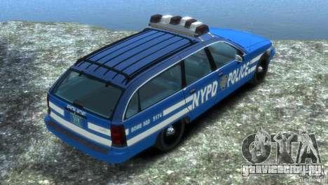 Chevrolet Caprice Police Station Wagon 1992 для GTA 4 вид слева