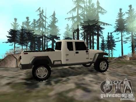 Jeep Gladiator для GTA San Andreas вид справа