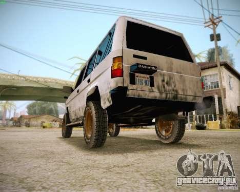 Daihatsu Taft Hiline Long для GTA San Andreas вид сзади