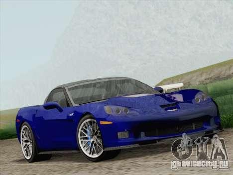 Chevrolet Corvette ZR1 для GTA San Andreas вид сзади