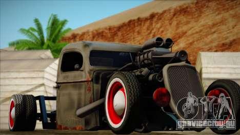 Rat Rod для GTA San Andreas вид сзади