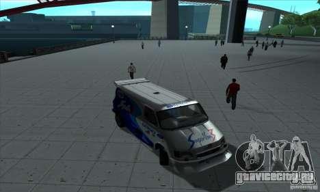 Ford Transit Supervan 3 2004 для GTA San Andreas вид изнутри