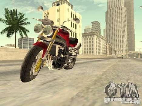 Bike Triumph для GTA San Andreas вид сзади