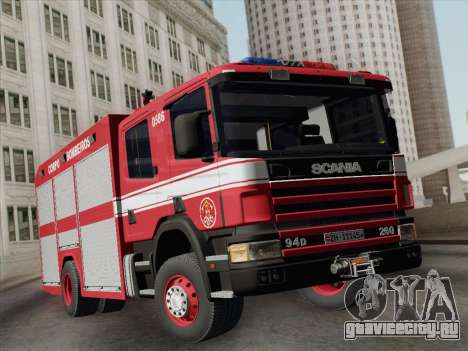 Scania 94D-260 Corpo Bombeiros SP для GTA San Andreas вид слева