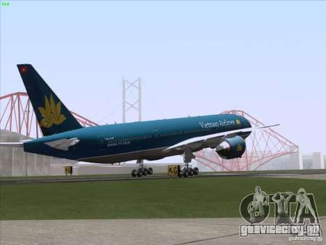 Boeing 777-2Q8ER Vietnam Airlines для GTA San Andreas двигатель