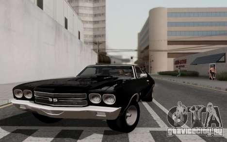 Chevrolet Chevelle SS 454 1970 для GTA San Andreas вид сзади