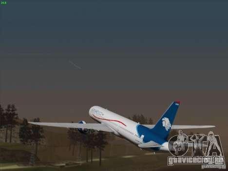 Boeing 787-8 Dreamliner AeroMexico для GTA San Andreas вид сзади