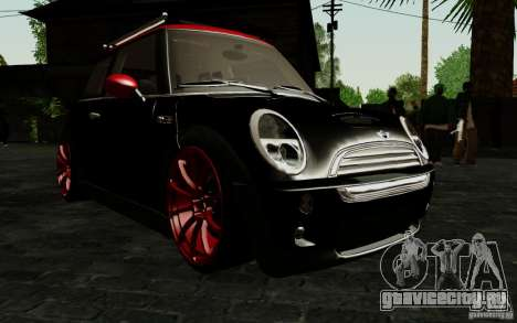 Mini Cooper S Tuned для GTA San Andreas вид сбоку