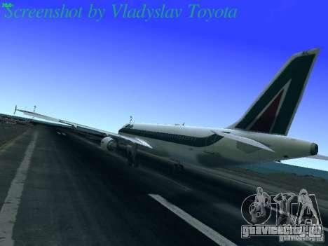 Airbus A320-214 Alitalia v.1.0 для GTA San Andreas вид сзади слева