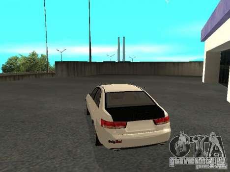 Hyundai Sonata 2008 для GTA San Andreas вид слева