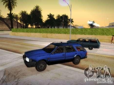 Nissan Bluebird Wagon для GTA San Andreas вид сзади слева