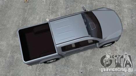 Volkswagen Amarok TDI для GTA 4 вид справа