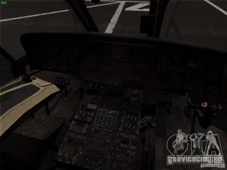 S-70 Battlehawk для GTA San Andreas вид сзади