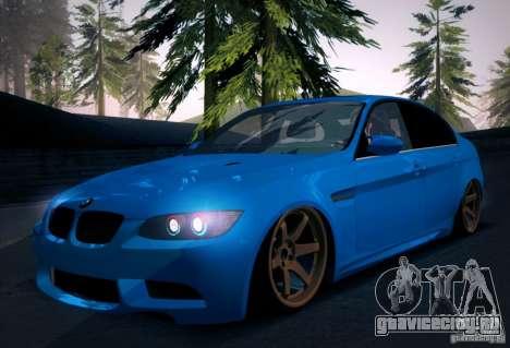 BMW M3 E90 для GTA San Andreas салон