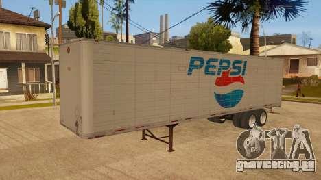 Цельнометаллический прицеп для GTA San Andreas салон