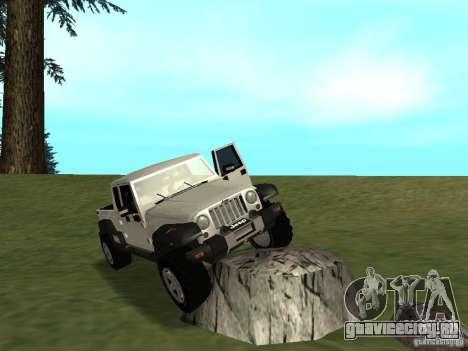 Jeep Gladiator для GTA San Andreas вид сзади