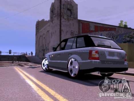 Range Rover DUB 2.0 для GTA 4 вид сзади слева
