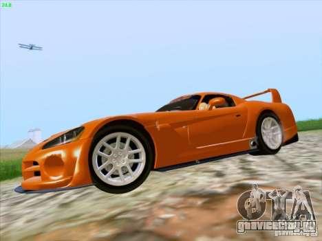 Dodge Viper GTS-R Concept для GTA San Andreas вид сзади