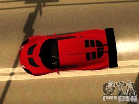 Lotus Exige 240R для GTA San Andreas вид изнутри