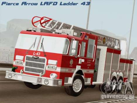 Pierce Arrow LAFD Ladder 43 для GTA San Andreas