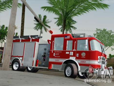 Pierce Saber LAFD Engine 10 для GTA San Andreas вид сбоку