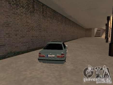 BMW E34 540i V8 для GTA San Andreas вид сзади слева