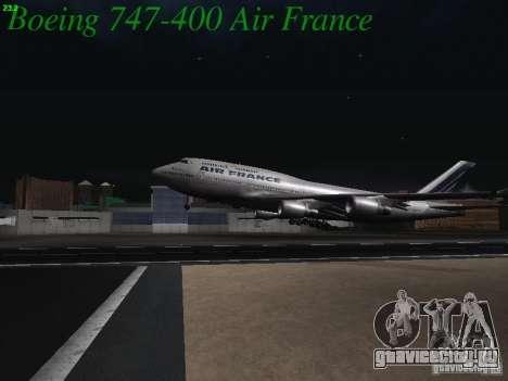 Boeing 747-400 Air France для GTA San Andreas вид сбоку