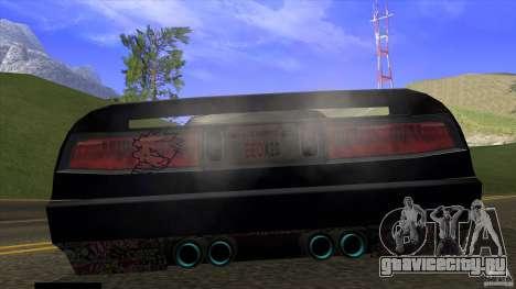 Infernus v3 by ZveR для GTA San Andreas вид сзади слева