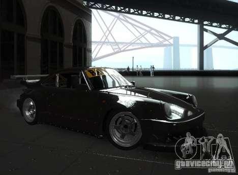 Porsche 911 Turbo RWB для GTA San Andreas вид сзади слева