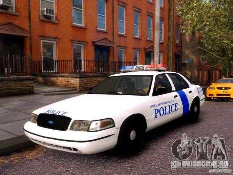 Ford Crown Victoria Homeland Security для GTA 4 вид сзади